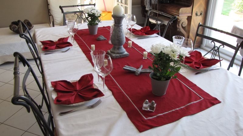 Fil de fer et compagnie d coration de table rouge et blanc for Decoration de table rouge et blanc